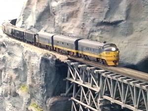 C&O coal train at Big Sandy trestle
