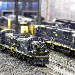 C&O diesels ready for service at Huntington, WV